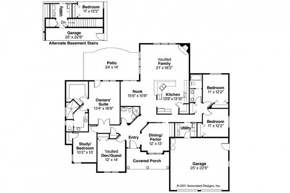 Contemporary House Plan - Beaufort 30-630 - Floor Plan