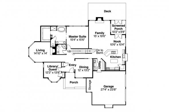 Contemporary House Plan - Blueridge 10-205 - 1st Floor Plan