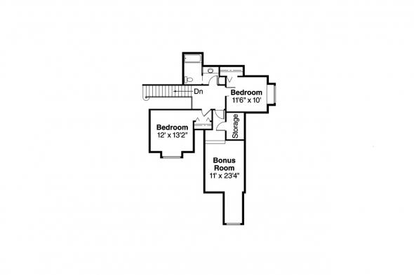Contemporary House Plan - Blueridge 10-205 - 2nd Floor Plan