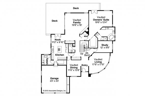 Contemporary House Plan - Candelaria 10-014 - 1st Floor Plan