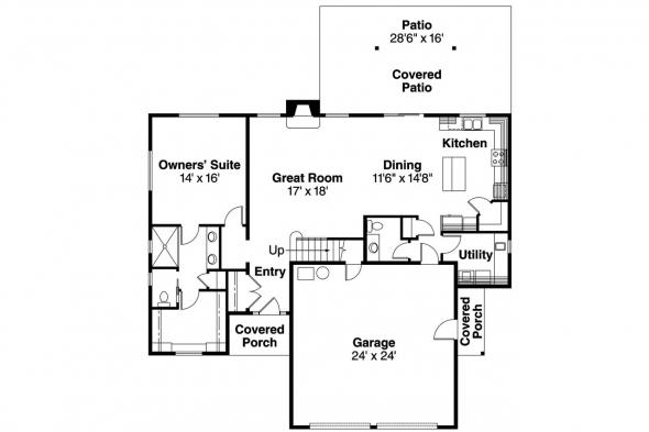 Contemporary House Plan - Cranston 30-539 - 1st Floor Plan