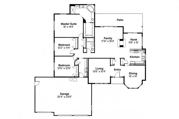 Contemporary House Plan - Edgemont 10-136 - Floor Plan