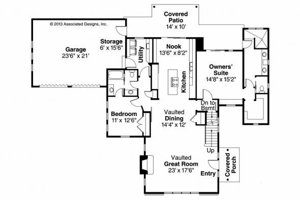Contemporary House Plan - Fairheart 10-600 - 1st Floor Plan