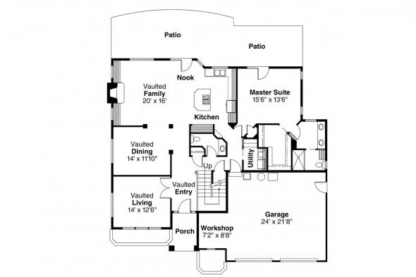 Contemporary House Plan - Gilcrest 30-270 - 1st Floor Plan