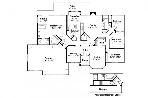 Contemporary House Plan - Kincaid 30-147 - Floor Plan