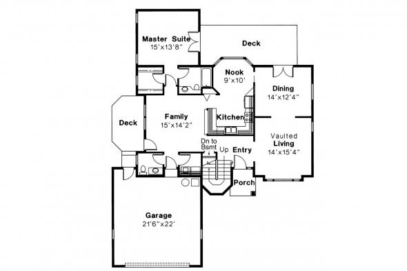 Contemporary House Plan - Lindsey 10-022 - 1st Floor Plan
