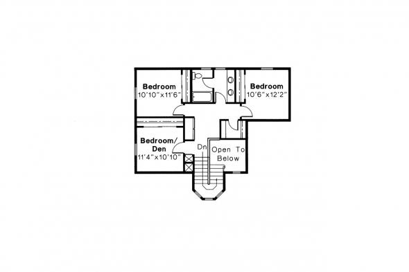 Contemporary House Plan - Lindsey 10-022 - 2nd Floor Plan