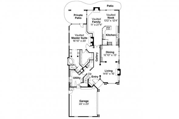 Contemporary House Plan - Newark 30-182 - 1st Floor Plan