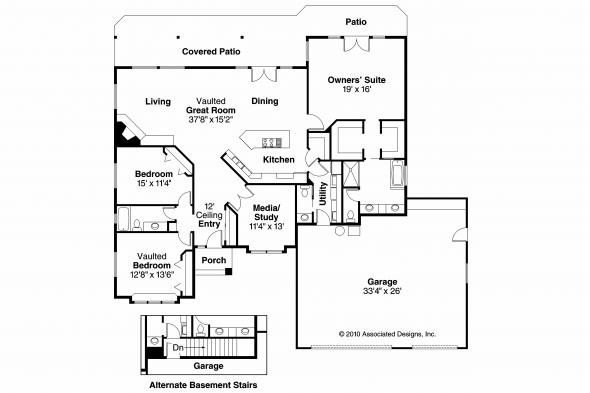 Contemporary House Plan - Palermo 30-160 - Floor Plan