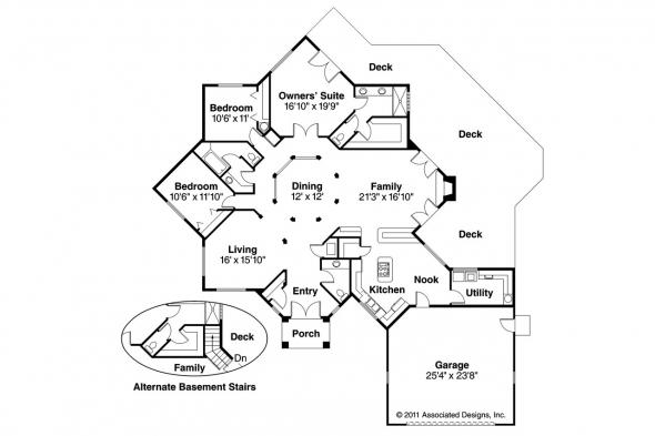 Contemporary House Plan - Palmyra 10-169 - Floor Plan