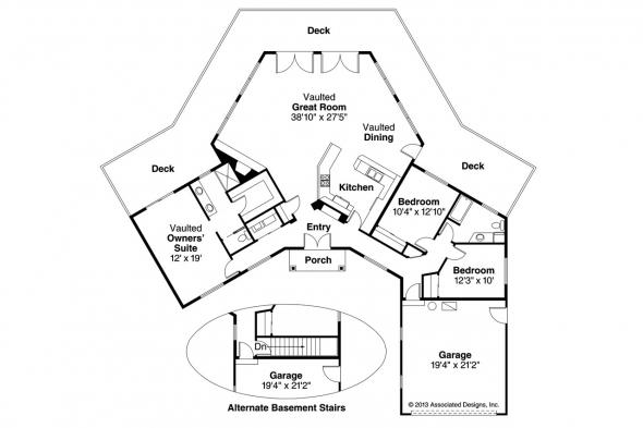 Contemporary House Plan - Pendleton 10-140 - Floor Plan