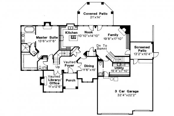Contemporary House Plan - Providence 10-305 - 1st Floor Plan