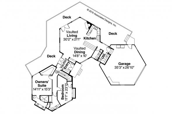 Contemporary House Plan - Ravendale 10-523 - 1st Floor Plan