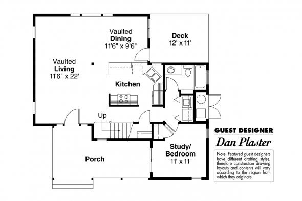 Contemporary House Plan - Riverview 51-003 - 1st Floor Plan