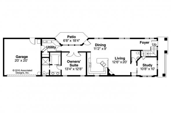 Contemporary House Plan - Rock Creek II 30-820 - 1st Floor Plan