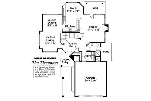Contemporary House Plan - Tiffany 50-002 - 1st Floor Plan