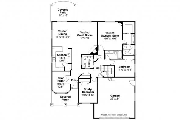 Cottage House Plan - Allenspark 30-700 - 1st Floor Plan