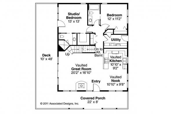 Cottage House Plan - Arden 30-329 - 1st Floor Plan