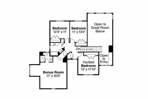 Cottage House Plan - Briarwood 30-690 - 2nd Floor Plan