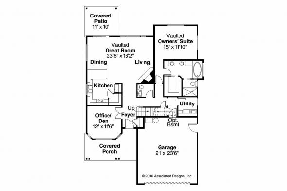 Cottage House Plan - Elkhorn 30-733 - 1st Floor Plan