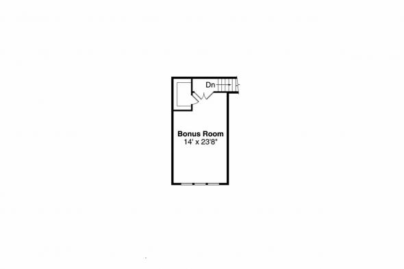 Cottage House Plan - Gladstone 30-786 = Bonus Room Floor Plan