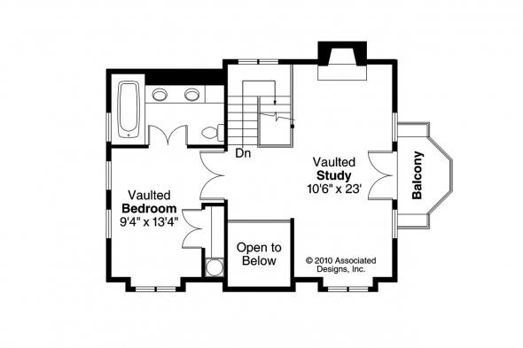 Cottage House Plan - Jersey 30-070 - 2nd Floor Plan