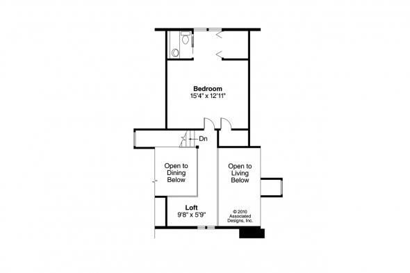 Cottage House Plan - Mazaruni 41-007 - 2nd Floor Plan