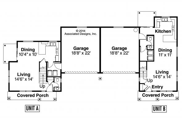 Duplex Plan - Warrendale 60-036 - First Floor Plan