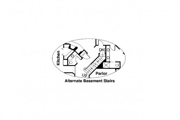 Country House Plan - Auburn 10-046 - Alternate Basement Foundation