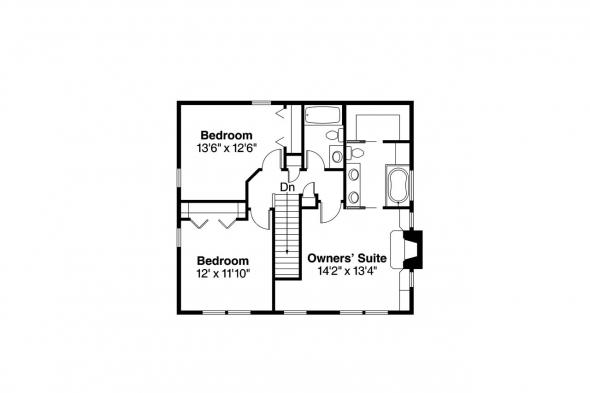 Country Home Plan - Green Acres 70-003 - 2nd Floor Plan
