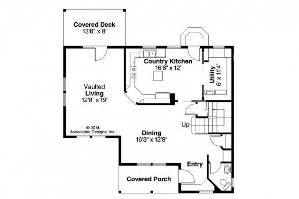 Country House Plan - Alder 30-111 - 1st Floor Plan