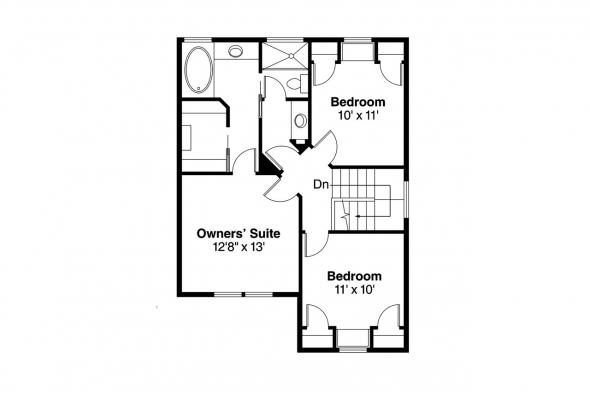 Country House Plan - Alder 30-111 - 2nd Floor Plan