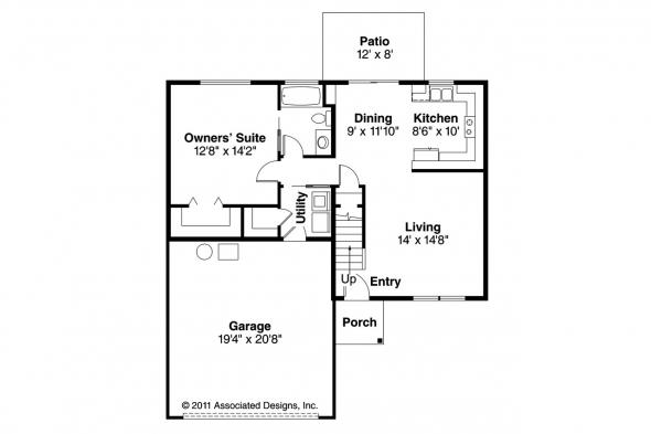 Country House Plan - Aldridge 30-321 - 1st Floor Plan