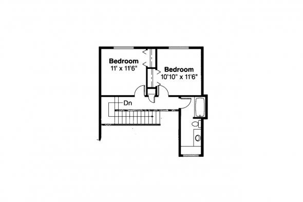 Country House Plan - Amsbury 30-124 - 2nd Floor Plan