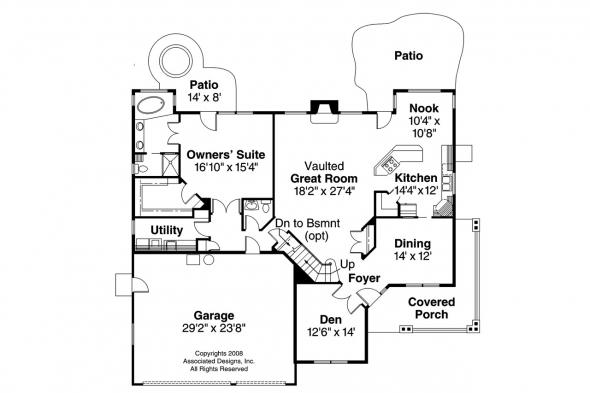 Country House Plan - Brillion 30-167 - 1st Floor Plan