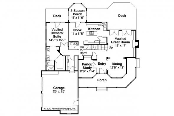 Country House Plan - Charleston 10-252 - 1st Floor Plan