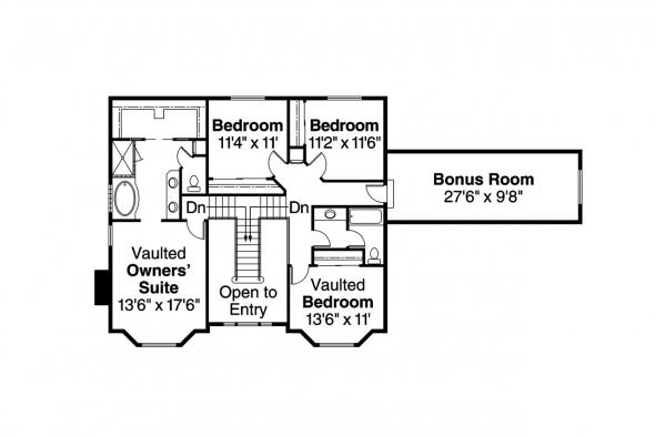 Country House Plan - Cimarron 10-208 - 2nd Floor Plan