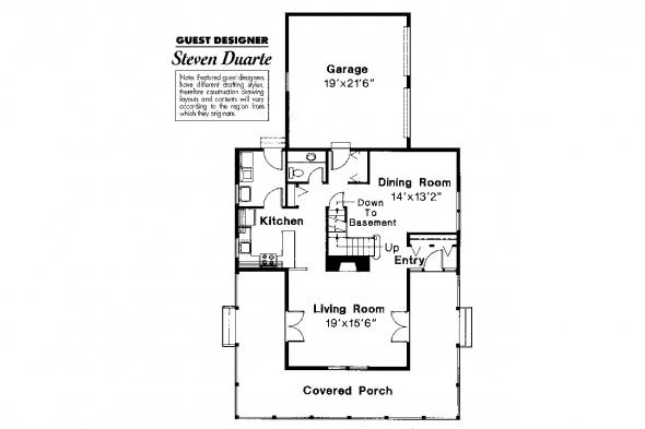 Country House Plan - Eldora 41-005 - 1st Floor Plan