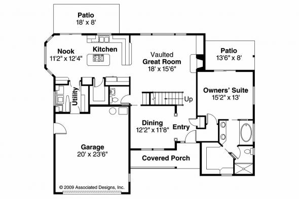 Country House Plan - Esterville 30-699 - 1st Floor Plan