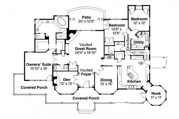 Country House Plan - Greenbriar 10-401 - Floor Plan