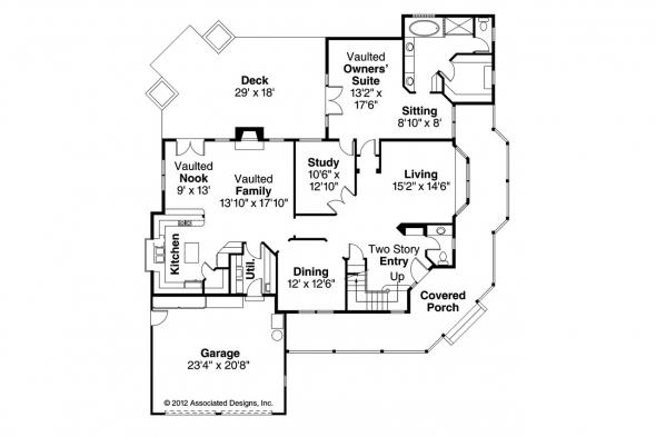 Country House Plan - Heartstone 10-200 - 1st Floor Plan