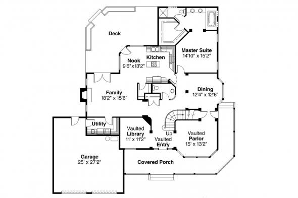 Country House Plan - Heartland 10-060 - 1st Floor Plan