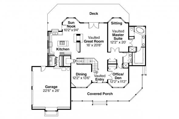 Country House Plan - Heartridge 10-250 - 1st Floor Plan