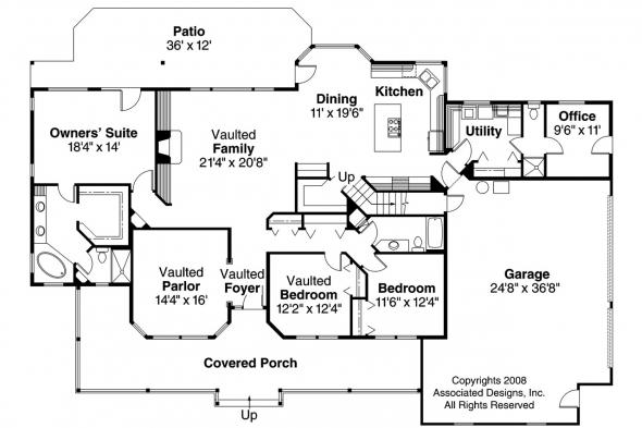 Country House Plan - Hillrose 30-269 - 1st Floor Plan