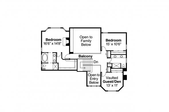 Country House Plan - Hilyard 10-408 - 2nd Floor Plan