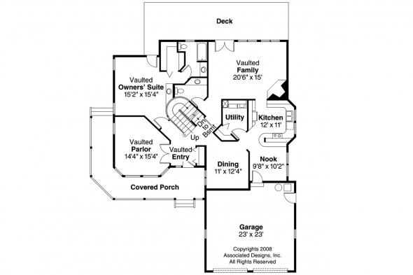 Country House Plan - Jasmine 10-001 - 1st Floor Plan