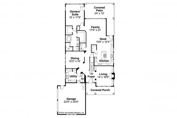 Country House Plan - Marion 30-174 - First Floor Plan