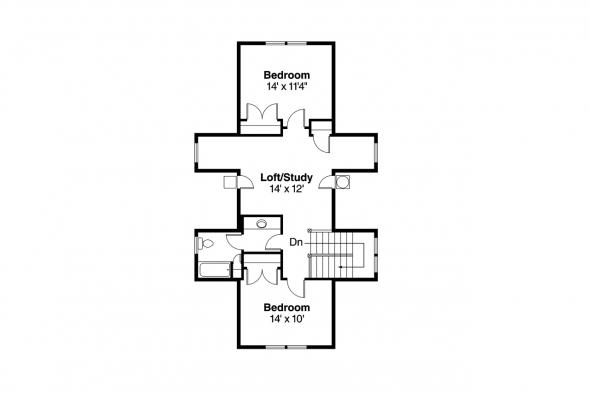 Country House Plan - Mayberry 30-619 - Second Floor Plan