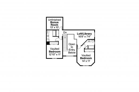 Country House Plan - Morgan 10-059 - 2nd Floor Plan