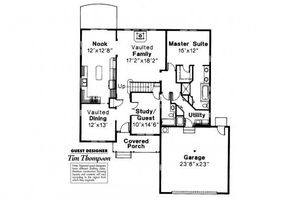 Country House Plan - Norkenzie 50-006 - 1st Floor Plan